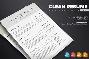 Clean Resume Template Vol.3