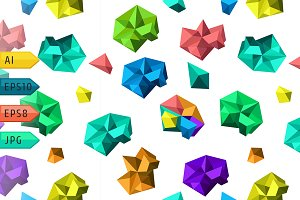 Background with polygonal shapes.