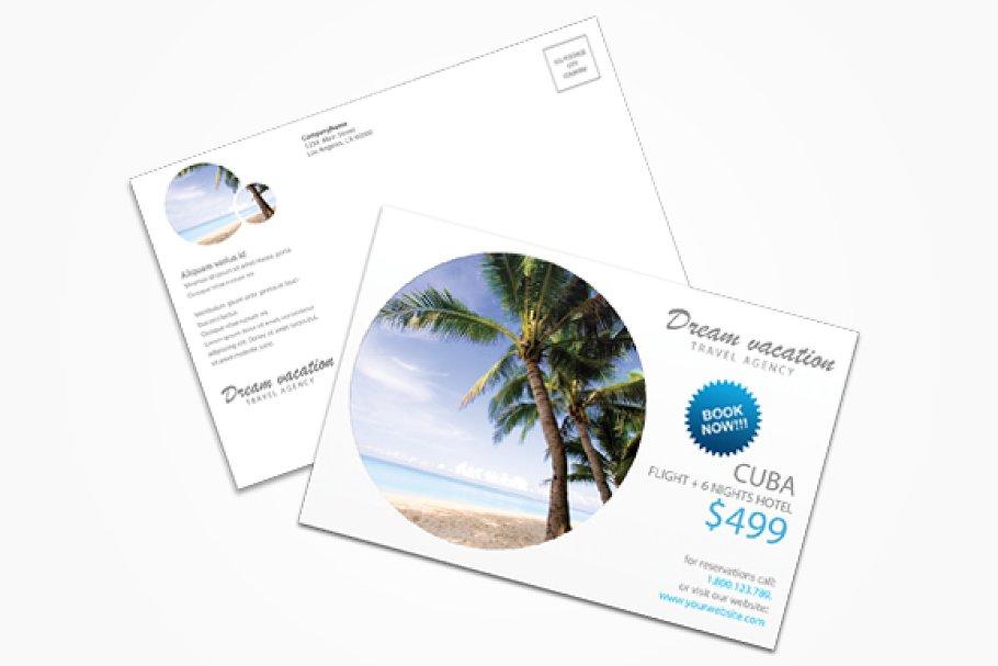Travel Agency 2 Postcard Postcard Templates Creative Market