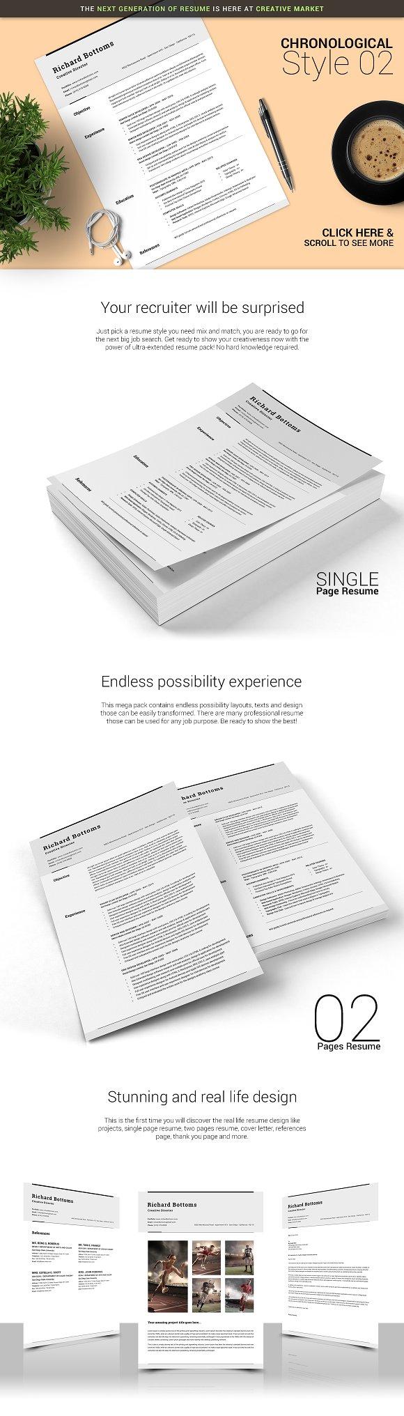 Timeless Resume Ultra Extended Pack Resume Templates Creative Market