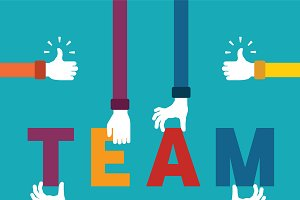 Teamwork flat style