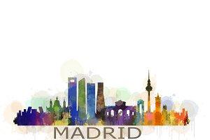 Madrid Cityscape Skyline