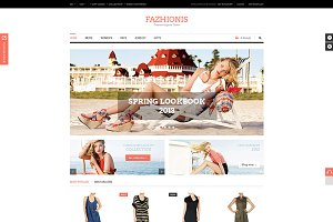 Fazhionis - eCommerce PSD Template