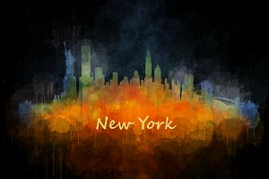 NYC New York Cityscape Skyline
