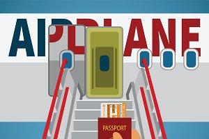 Aircraft boarding bridge