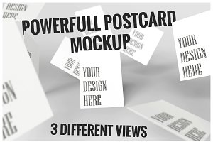 Powerful Postcard Mockup