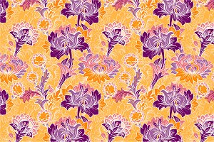 7 Flowers Seamless Patterns