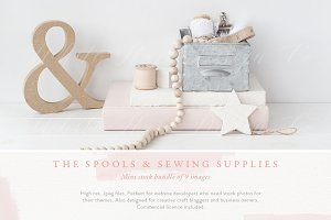 The spools and sewing mini bundle