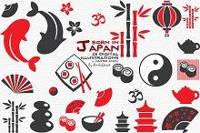 Born in Japan - Digital Cliparts