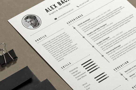 alex resume resume templates creative market