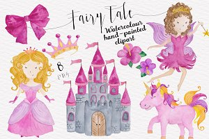Fairytale Baby Girl Pink Watercolor