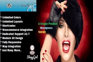 ShopyGirl- A Single Product 3D Theme