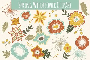 Spring Wildflower Elements - Vector