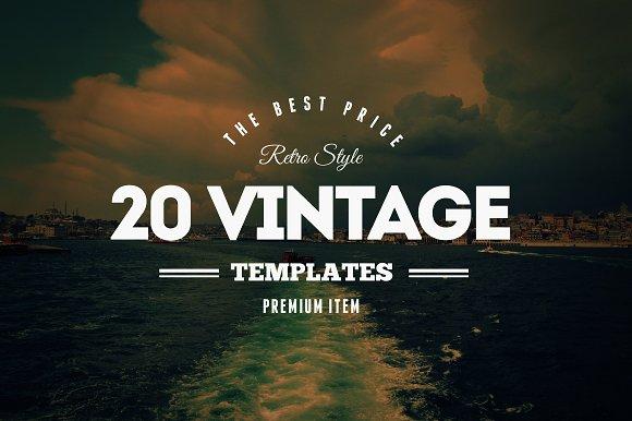 20 Vintage Logos & Badges Vol. 2 - Logos