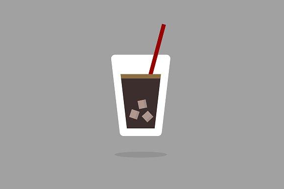 Flat design cola or juice icon
