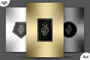 3in1 GOLD MINIMAL Flyer Template