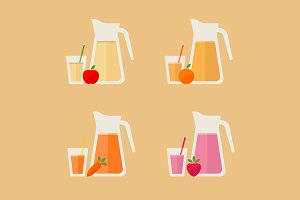 Juice / smoothie icon set