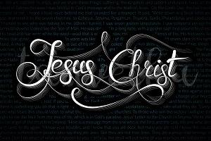 Jesus Christ Lettering