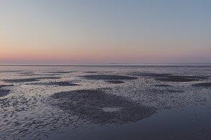 Warm Sunset over the Tideland