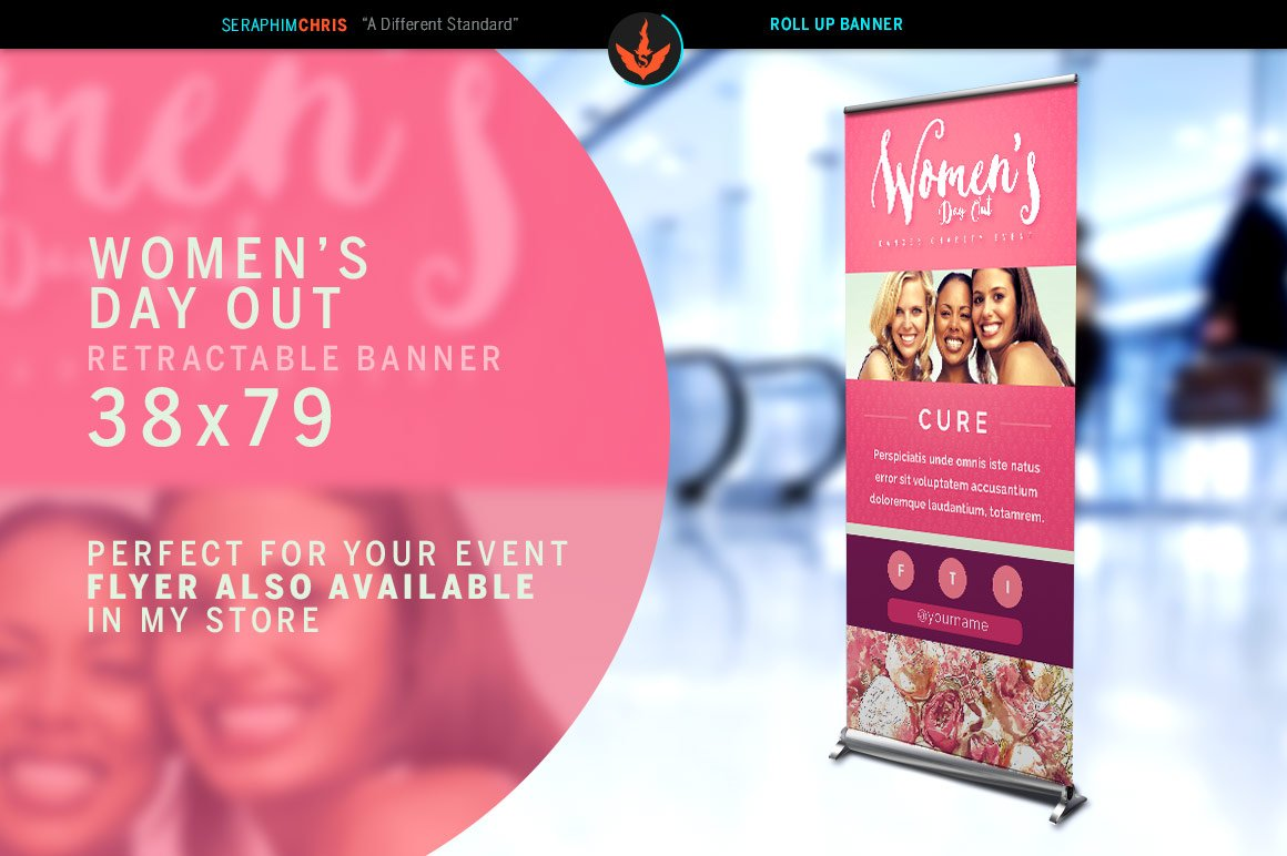 womens day out roll up banner templates creative market