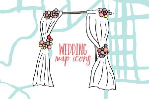 Wedding Map Icons Bundle