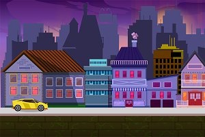 Modern City Game Background