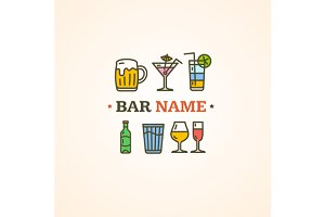 Drink Alcohol Beverage Sign. Vector