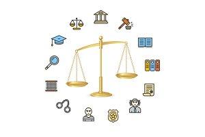Justice Concept. Vector