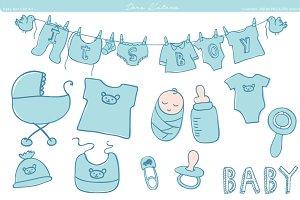 Baby Shower Clip Art - blue