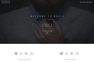 Resta Landing Page - PSD Template