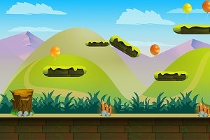 Jumping Game Background