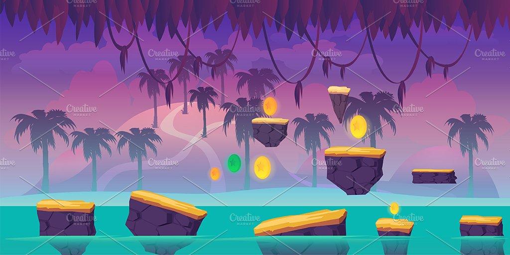 river jump game background illustrations creative market
