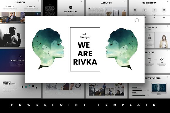 50 stunning presentation templates you wont believe are powerpoint rivka minimal powerpoint template toneelgroepblik Image collections