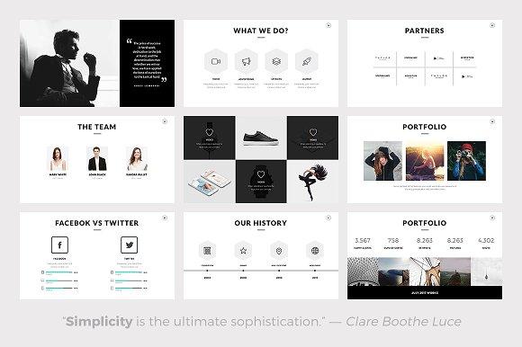rivka minimal powerpoint template presentation templates creative market