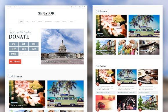 Senator: Political Theme