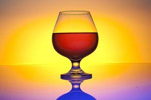 glass brandy