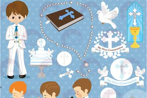 First Communion Clipart AMB-1262