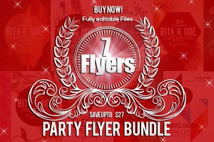 7 Futuristic Party Flyer Bundle