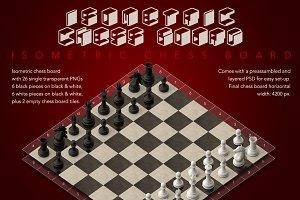 Modular 3D Chess Board (Isometric)