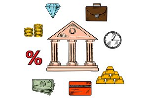 Banking, business and finance icons