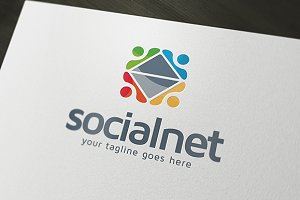 Social Net Logo Template
