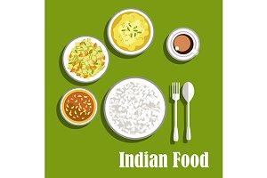 Vegetarian indian dinner