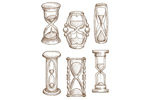 Hourglasses and sand glasses
