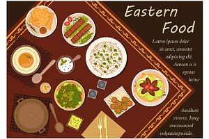 Arabian cuisine flat icons