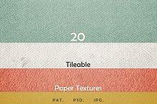 20 Tileable Paper Photoshop Textures