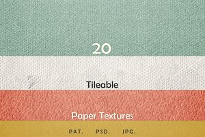 20 Tileable Paper Photoshop Textures