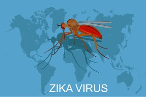 zika virus, vector illustration