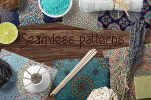 10 seamless patterns + Mandala