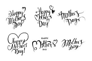 Happy Mother's day cards set.
