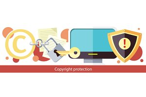 Copyright Protection Design Flat